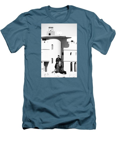 Men's T-Shirt (Slim Fit) featuring the photograph I Gotta Leave This Town by Jez C Self