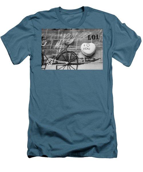 I Heart You Men's T-Shirt (Slim Fit) by Toni Hopper