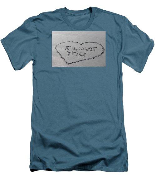 I Love You Men's T-Shirt (Slim Fit)