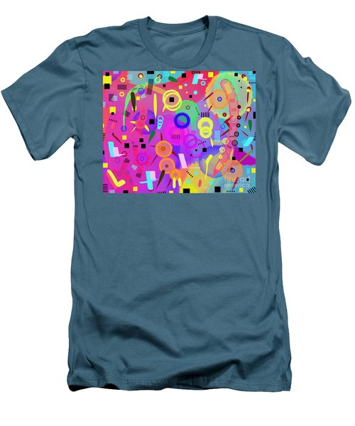 Men's T-Shirt (Athletic Fit) featuring the digital art I Once Was Happy by Silvia Ganora