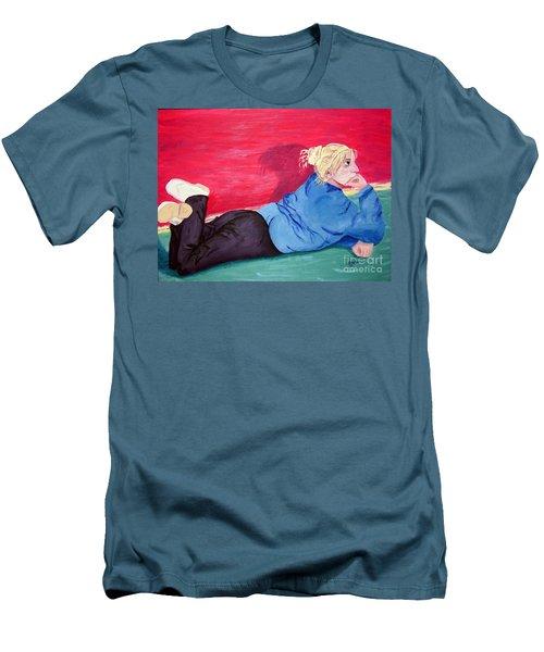 I Wonder? Men's T-Shirt (Athletic Fit)