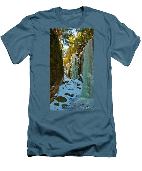 Ice At The Flume Men's T-Shirt (Athletic Fit)