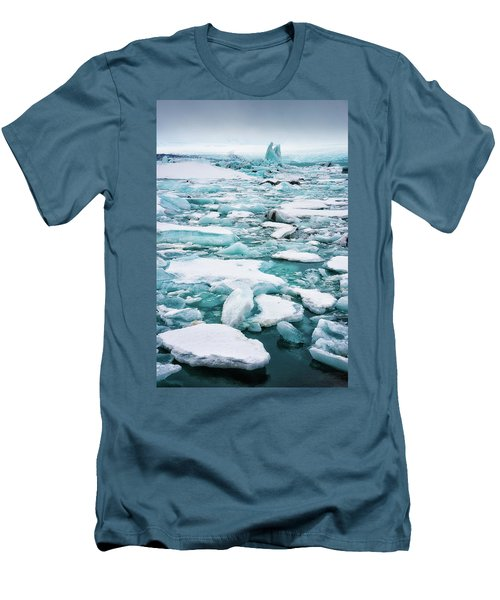Men's T-Shirt (Slim Fit) featuring the photograph Ice Galore In The Jokulsarlon Glacier Lagoon Iceland by Matthias Hauser