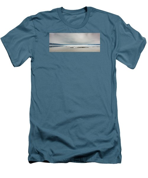 Men's T-Shirt (Slim Fit) featuring the photograph Ice Sheet by Dan Traun