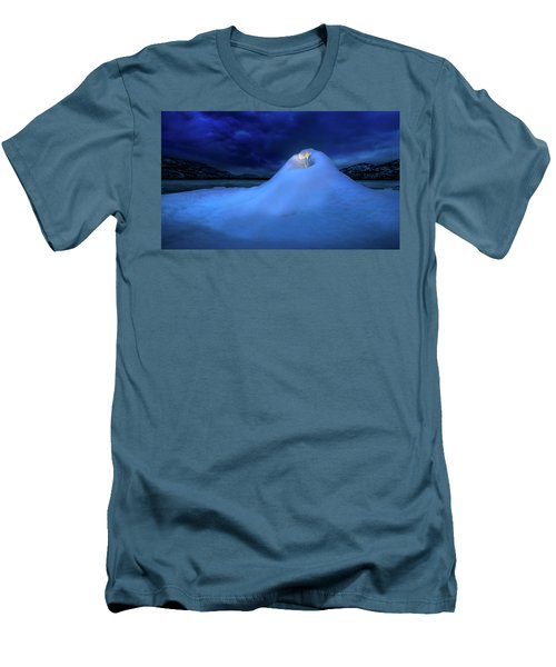 Men's T-Shirt (Athletic Fit) featuring the photograph Ice Volcano by John Poon