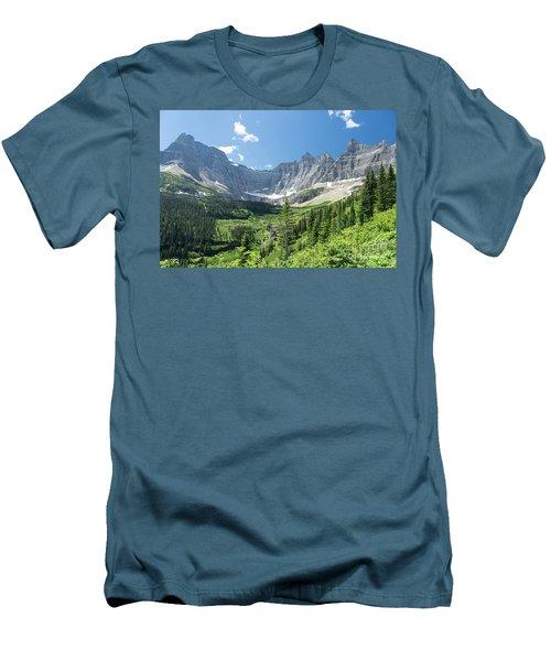 Iceberg Lake Trail - Glacier National Park Men's T-Shirt (Athletic Fit)