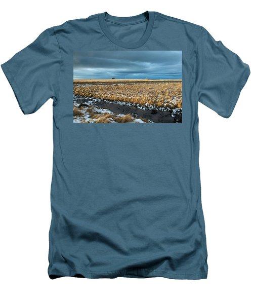 Men's T-Shirt (Athletic Fit) featuring the photograph Icelandic Landscape by Dubi Roman