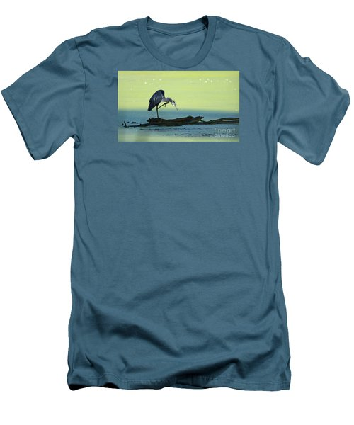 Ichy The Great Blue Heron Men's T-Shirt (Athletic Fit)