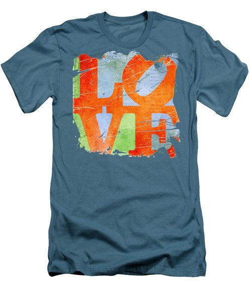 Iconic Love - Grunge Men's T-Shirt (Slim Fit) by Paulette B Wright