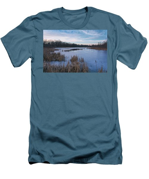 Icy Glazed Wetlands Men's T-Shirt (Slim Fit) by Angelo Marcialis