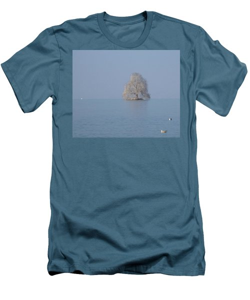 Men's T-Shirt (Slim Fit) featuring the photograph Icy Isolation by Christin Brodie