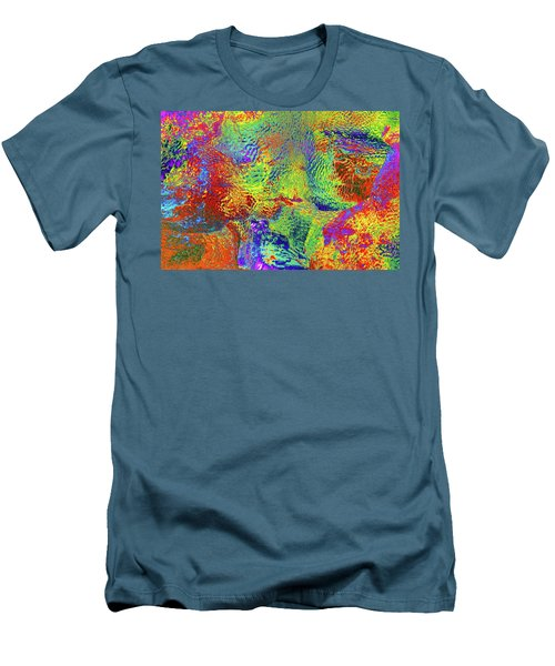Men's T-Shirt (Slim Fit) featuring the photograph Icy Kaleidoscope by Tony Beck