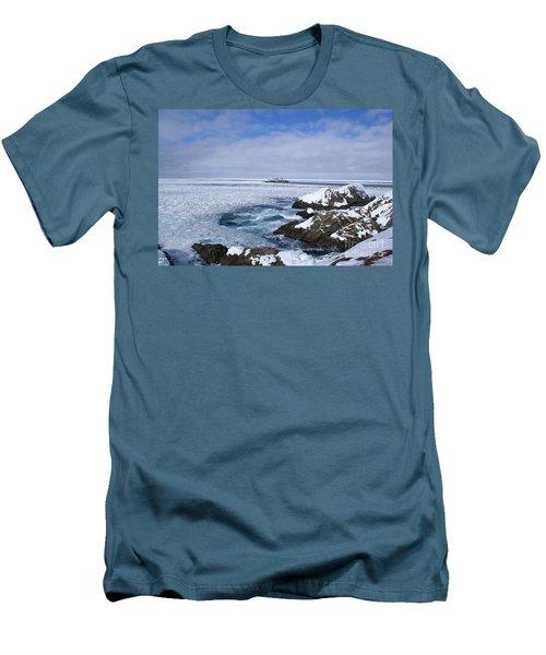 Icy Ocean Slush Men's T-Shirt (Slim Fit) by Annlynn Ward