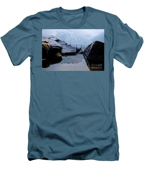 Icy Reflections Men's T-Shirt (Slim Fit) by Sandra Updyke