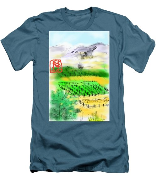 Idaho Vineyard Men's T-Shirt (Athletic Fit)