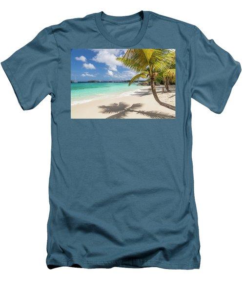 Men's T-Shirt (Athletic Fit) featuring the photograph Idyllic Salomon Beach by Adam Romanowicz