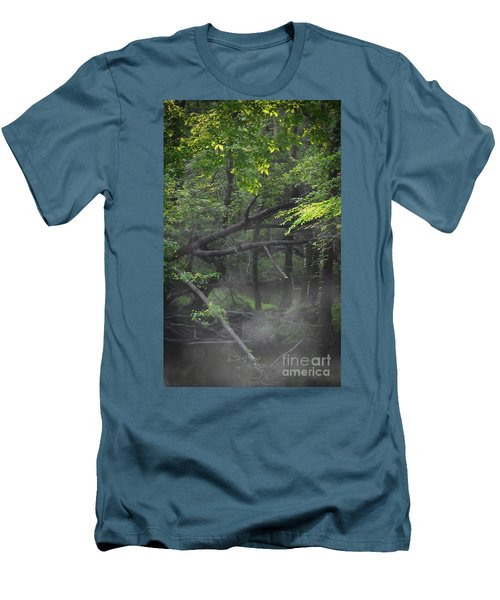 Men's T-Shirt (Slim Fit) featuring the photograph If A Tree Falls In The Woods by Skip Willits