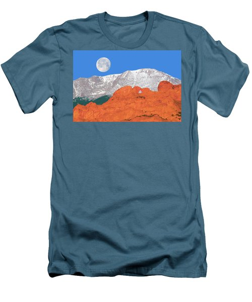 If You're Lucky Enough To Live In The Mountains, You're Lucky Enough.  Men's T-Shirt (Athletic Fit)