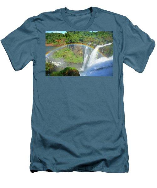 Iguazu Rainbow Men's T-Shirt (Athletic Fit)