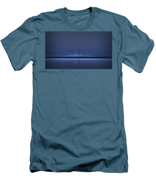 I'm In A Blue Mood Men's T-Shirt (Slim Fit) by Laura Ragland