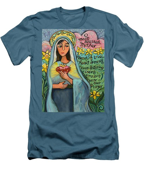 Immaculate Heart Of Mary Men's T-Shirt (Athletic Fit)