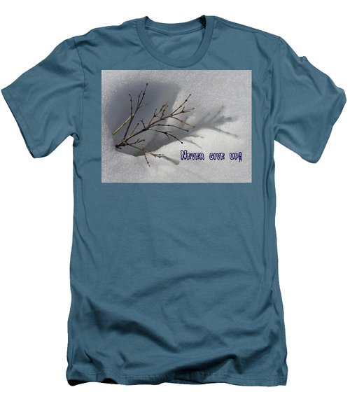 Impressions Never Give Up Men's T-Shirt (Slim Fit) by DeeLon Merritt