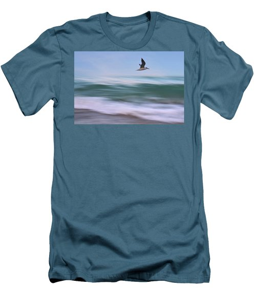 In Flight Men's T-Shirt (Slim Fit) by Laura Fasulo