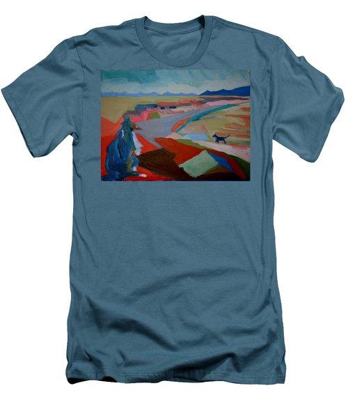 In My Land Men's T-Shirt (Slim Fit) by Francine Frank