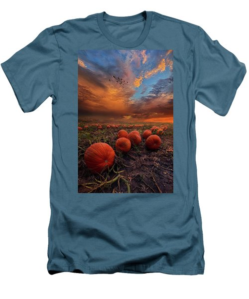 In Search Of The Great Pumpkin Men's T-Shirt (Slim Fit) by Phil Koch