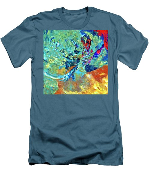 Men's T-Shirt (Slim Fit) featuring the painting Incursion by Dominic Piperata