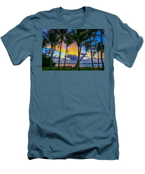 Indian River Sunrise Men's T-Shirt (Slim Fit) by Tom Claud