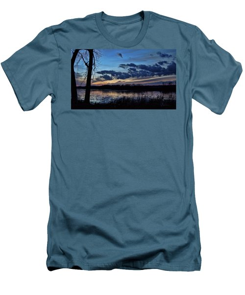 Men's T-Shirt (Slim Fit) featuring the photograph Indigo Skies by Cricket Hackmann