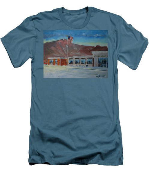 Men's T-Shirt (Slim Fit) featuring the painting Infinite Horizons by Len Stomski