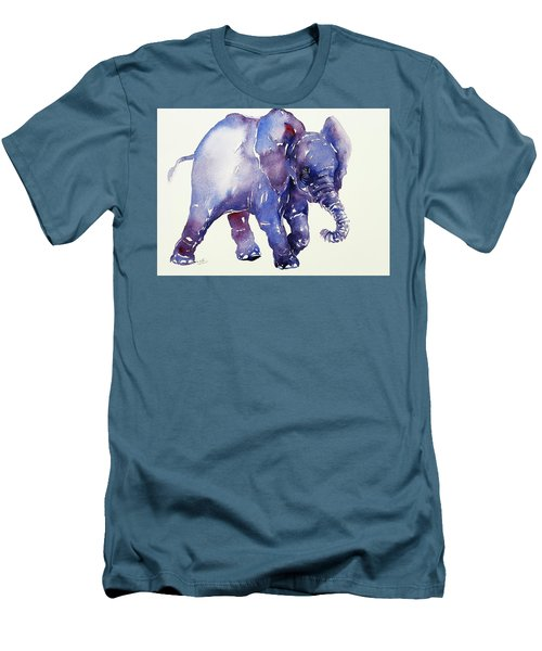 Inky Blue Elephant Men's T-Shirt (Athletic Fit)