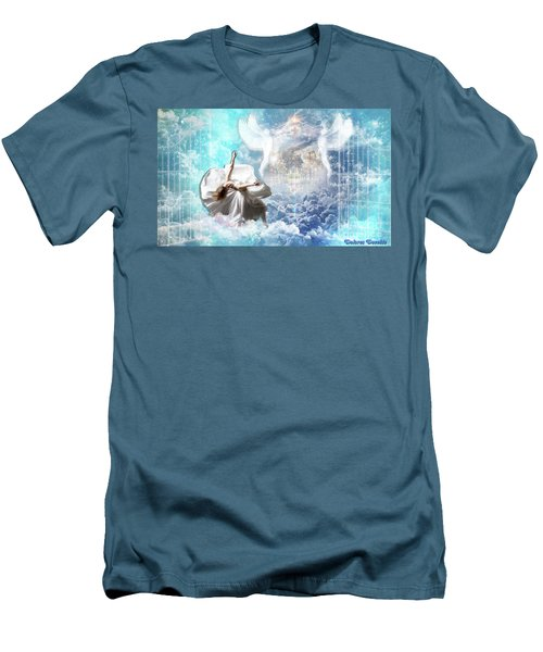 Men's T-Shirt (Slim Fit) featuring the digital art Inner Courts by Dolores Develde
