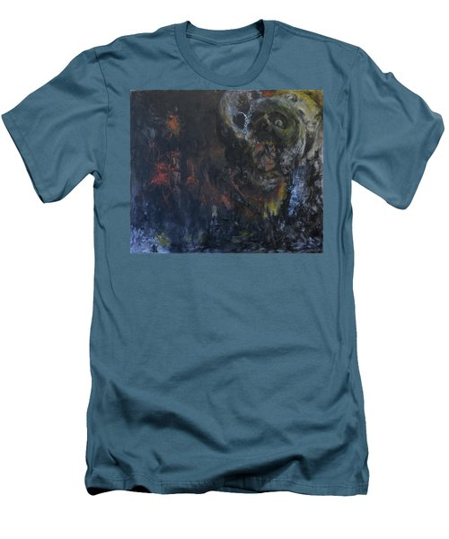 Men's T-Shirt (Slim Fit) featuring the painting Innocence Lost by Christophe Ennis