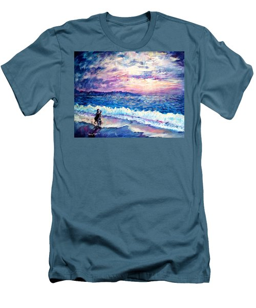 Inspiration-the Musician Men's T-Shirt (Slim Fit) by Shana Rowe Jackson