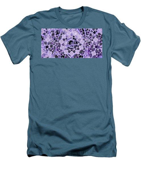 Men's T-Shirt (Slim Fit) featuring the digital art Interwoven by Ron Bissett