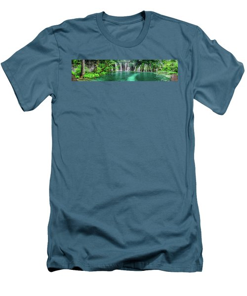 Into The Waterfalls - Plitvice Lakes National Park Croatia Men's T-Shirt (Athletic Fit)