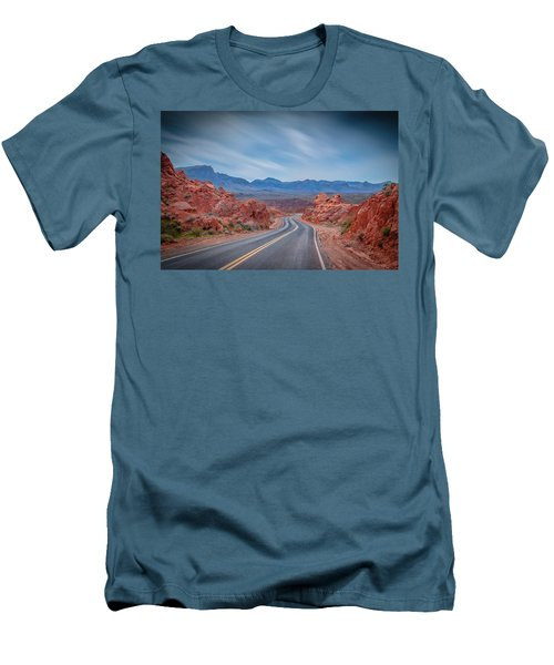 Into The Valley Of Fire Men's T-Shirt (Slim Fit) by Mark Dunton