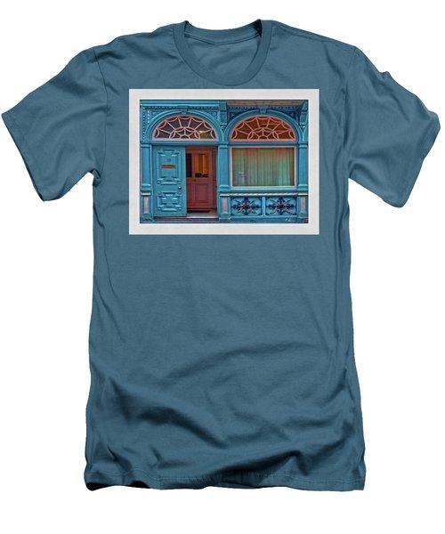 Men's T-Shirt (Athletic Fit) featuring the digital art Irish Door by Hanny Heim