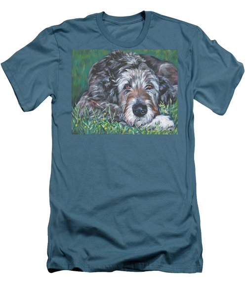 Irish Wolfhound Men's T-Shirt (Slim Fit) by Lee Ann Shepard