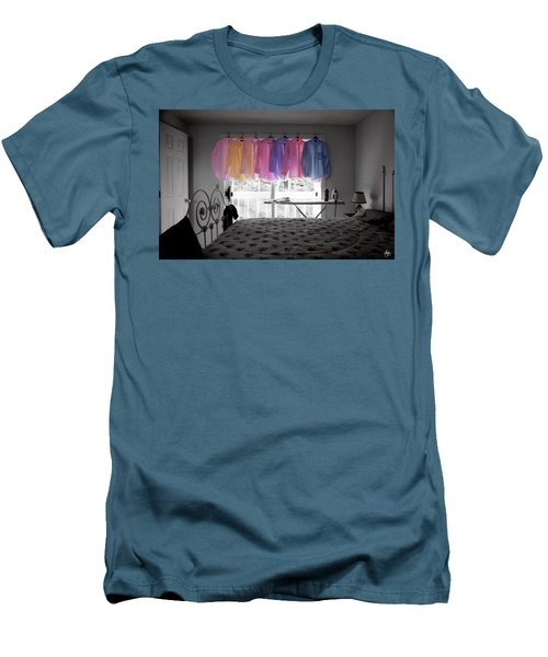 Ironing Adds Color To A Room Men's T-Shirt (Athletic Fit)