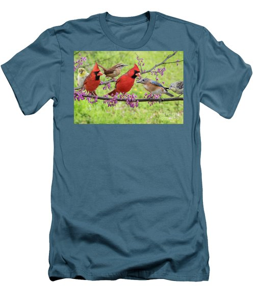 Men's T-Shirt (Slim Fit) featuring the photograph Is It Spring Yet? by Bonnie Barry