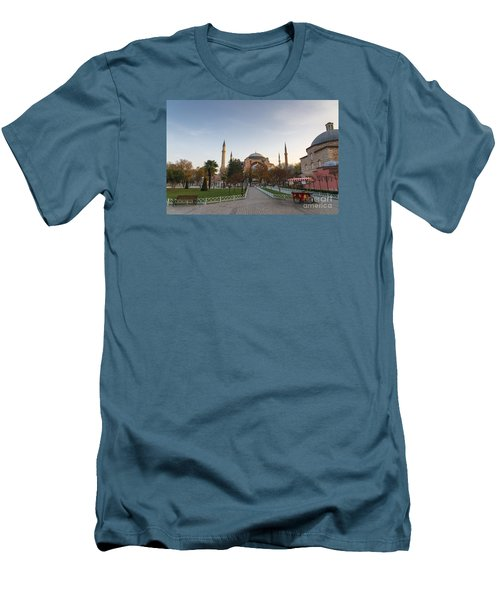 Men's T-Shirt (Slim Fit) featuring the photograph Istanbul City Center by Yuri Santin