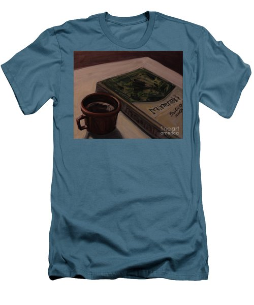 Men's T-Shirt (Slim Fit) featuring the painting It Is Coffee Time by Olimpia - Hinamatsuri Barbu