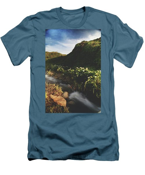 Men's T-Shirt (Slim Fit) featuring the photograph It Was A Hard Winter by Laurie Search