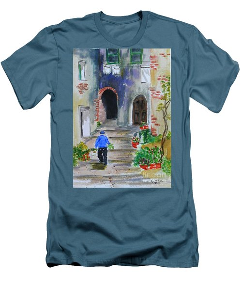 Italian Alleyway Men's T-Shirt (Athletic Fit)
