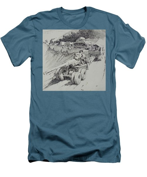 Men's T-Shirt (Slim Fit) featuring the drawing Italy 1943. by Mike Jeffries