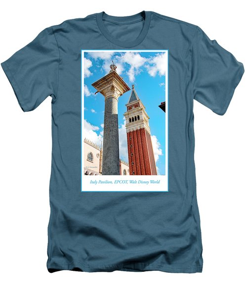 Italy Pavilion, Epcot, Walt Disney World Men's T-Shirt (Slim Fit) by A Gurmankin